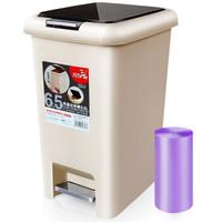 飞达三和 脚踏垃圾桶 方形 大号 6.5L
