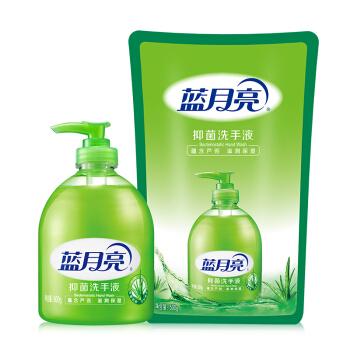 蓝月亮 芦荟抑菌 洗手液 组合装1kg(500g+500g) *6件