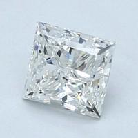Blue Nile 1.01 克拉公主方形钻石(切割VG/成色H/净度VVS1)