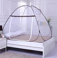 素风家纺 免安装蒙古包蚊帐 咖色 1.2*2.0米床