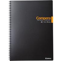 Comix 齐心 CPA4807 双螺旋PP面笔记本 黑色 A4 80张