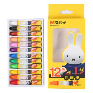 M&G 晨光 MF9011-1 米菲卡通3D六角油画棒 12色