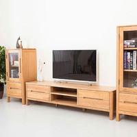 TIMI 天米  日式实木电视柜白橡木电视柜 1.5米 原木色