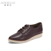 Aerosoles 爱柔仕 1917404007 女士圆头系带休闲鞋 (烟紫、35)