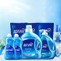 蓝月亮14斤洗衣液套装 4瓶3袋家庭半年装 薰衣草香 白兰香
