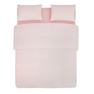 历史低价、京东PLUS会员 : 网易严选 日式色织水洗棉条纹四件套 粉晶条纹 1.5m床款 *2件