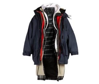 BALENCIAGA 男士多层设计派克大衣