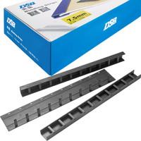 DSB 优质装订夹条 黑色 A4 3mm 装订30页 10孔/齿 100根/盒 塑料压条