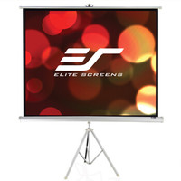 亿立(Elite Screens)100英寸4:3白塑支架幕布 投影幕布 投影仪幕布 投影幕 幕布(ECT100V1 便携幕)