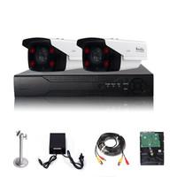 龙视安(Loosafe)200万监控设备套装2路AHD同轴监控摄像头 高清红外夜视室外防水家用手机远程监控器 硬盘1T