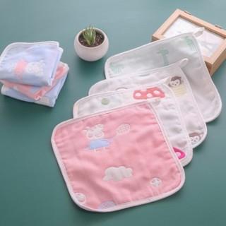 素风 婴儿6层纱布口水巾 25*25cm 5条装