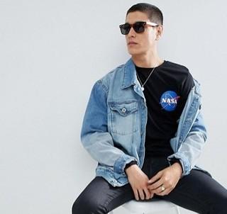 ASOS DESIGN NASA 男士长袖T恤