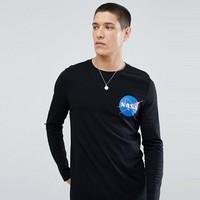 秋季焕新、凑单品 : ASOS DESIGN NASA 男士长袖T恤