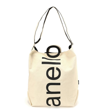 anello 阿耐洛 女士纯色棉质单肩包AU-S0061 象牙白色大号