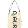 anello 阿耐洛 中性字母休闲运动包S0061 象牙白色大包