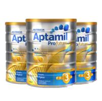 Aptamil 爱他美 白金版婴幼儿配方奶粉 3段(1-2岁) 900g 3罐装