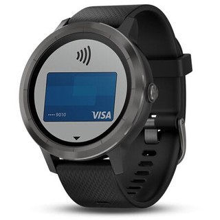 限地区 : 佳明(GARMIN)vivoactive 3 智能运动GPS光学心率手表 PVD镀膜 移动支付实时监测蓝牙来电提醒 遂空黑