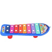 beiens 贝恩施 婴儿早教玩具 八音敲打手敲琴 蓝色
