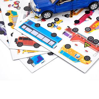 《全景创意磁力贴:轱辘轱辘小汽车》