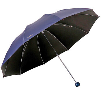 Paradise 天堂伞 加大加固黑胶三折钢杆钢骨商务晴雨伞太阳伞 深藏青 33188E