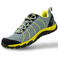 ALPINT MOUNTAIN 低帮男女款越野跑步鞋减震轻便透气耐磨防滑640-807 灰色 42