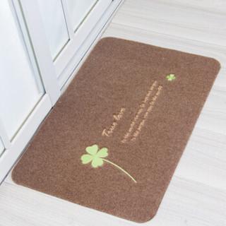 丽家地毯 除尘垫地垫耐磨客厅卧室厨房餐厅防滑垫HOME蹭蹭垫系列 浅驼四叶草 50*80cm *8件