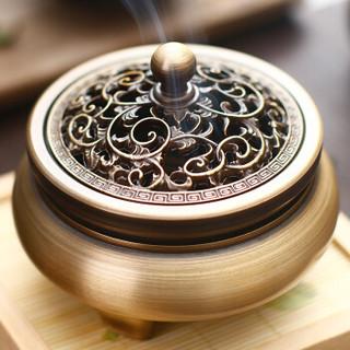 达埔 金枝玉叶熏香炉檀香炉纯铜沉香香薰炉家用客厅摆件