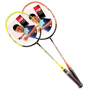 红双喜DHS羽毛球拍对拍套装碳素羽拍E-EG810已穿线(赠羽毛球手胶)