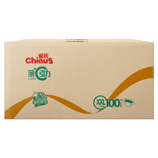 Chiaus 雀氏 薄+C引力 婴儿纸尿裤 (XXL、100片)