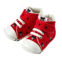 Mikihouse Double_B 婴儿学步鞋 小黑熊刺绣款