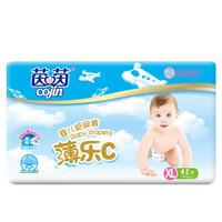 京东PLUS会员 : 茵茵(cojin)纸尿裤 薄乐C婴儿尿不湿 加大号XL42片 *8件