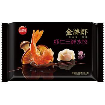 思念 金牌虾水饺 虾仁三鲜口味 ( 480g ,32只)