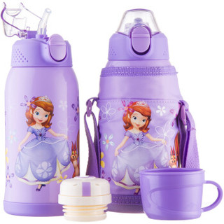 Disney 迪士尼 双盖儿童保温杯 紫色苏菲亚 600ml