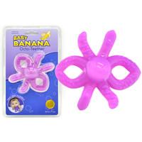 香蕉宝宝  BABY BANANA 婴儿牙胶硅胶磨牙棒 (章鱼款、0-24个月)