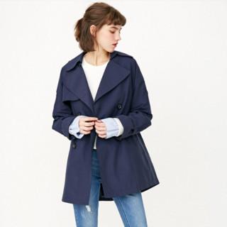ONLY春夏新款双排扣短款风衣外套女|118136514