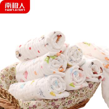 Nan ji ren 南极人 6层纱布纯棉口水巾 (30*30cm、3条装)