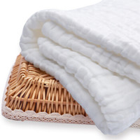 Enssu 樱舒 ES2802 婴儿浴巾 纯棉水洗纱布 *6件