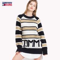 TOMMY【明星同款】女装2018秋m冬套头针织衫-WW0WW23734OW