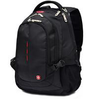 SWISSGEAR背包瑞士双肩电脑包14/15.6英寸惠普笔记本商务防泼水旅行包男女学生书包出差包 SA-9601黑色