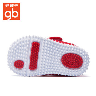 gb 好孩子 17FW001 儿童软底防滑学步鞋   大红 21码