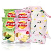 Lay's 乐事 薯片 软萌樱花味+原谅抹茶味 70g*4包