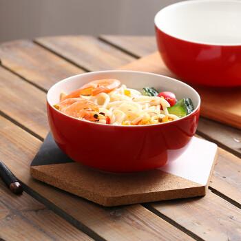 6英寸泡面碗汤碗大饭碗 简约韩式日式陶瓷碗