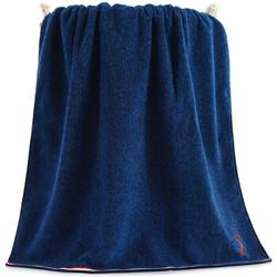 三利 纯棉色织AB纱彩边大浴巾 70×140cm 385克 蓝色 *3件