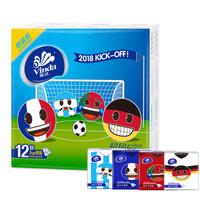 Vinda 维达 emoji足球限量版 手帕纸 4层7张*12包