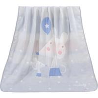 Elepbaby 象宝宝 象宝宝(elepbaby)婴儿毯子8层加厚多功能纱布盖毯提花包被巾毛巾被 (亲子鼠灰色、110X110CM)