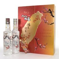 台湾八八坑道高粱酒 鸿运双开台湾白酒礼盒 500ml*2瓶