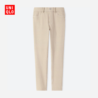 UNIQLO 优衣库 410644 女士七分裤 (深米色、XL)