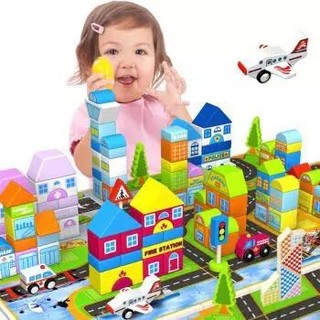 铭塔 婴幼儿童益智玩具 200粒+美高大颗粒80片 *3件+凑单品