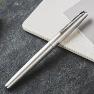 HERO 英雄 7517832 鼎新100金属拉丝 14K 金尖钢笔 (金属拉丝、0.5mm、单支装、铜杆,镀铜镀镍)