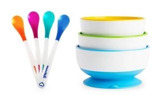 Munchkin 满趣健 儿童餐具7件套 吸盘碗+感温勺